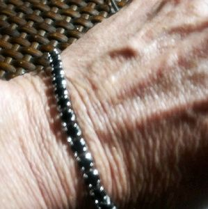 "Gorgeous 8"" Black Spinel tennis bracelet"